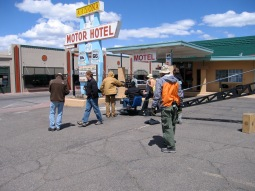 on set of The Canyon in Williams, Arizona. The Canyon