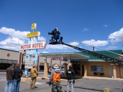 On set of The Canyon in Williams, Arizona.