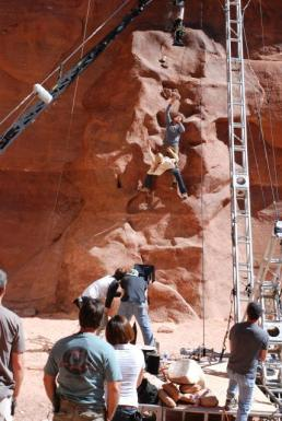 On location in Moab, Utah, The Canyon