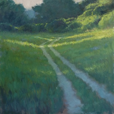 """24"""" x 24"""" Impressionist Oil landscape painting on canvas by Steve Allrich"""