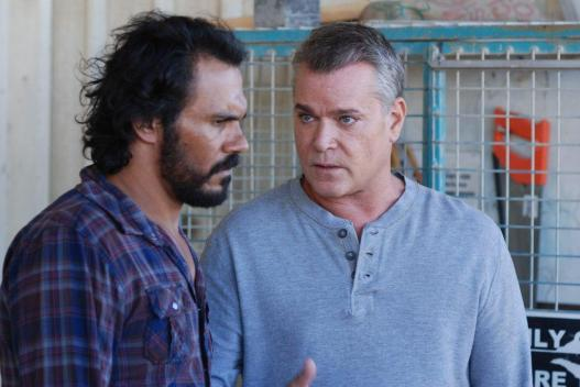Ray Liotta and Aaron Pedersen in Bad Karma