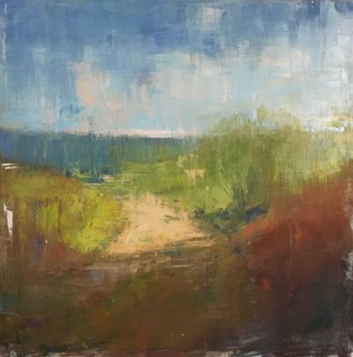 Abstracted oil landscape painting by Steve Allrich