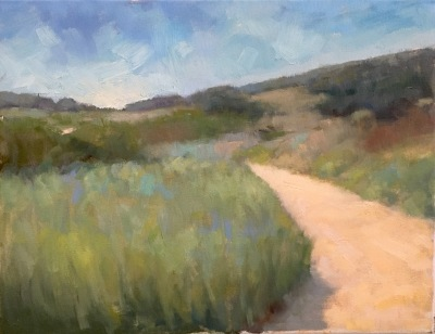 """14"""" x 18"""" Impressionist oil landscape painting by Steve Allrich"""