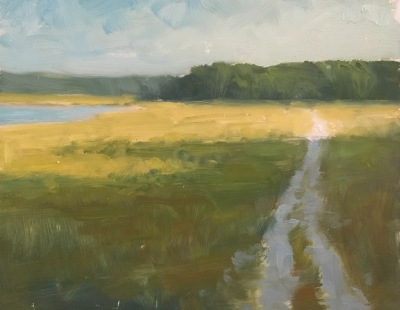 Impressionist oil landscape painting by Steve Allrich